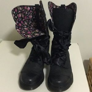 Dr. Martens Triumph 1914 Leather Floral Tall Boot